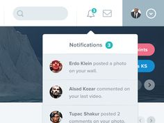 Notifications Dropdown by Zeki Ghulam (Flat & Filthy)
