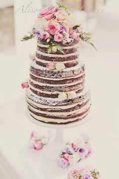 Romantically beautiful cake for relaxed intimate wedding- Cake by Alison Lawson, photo by Peta Rudd http://www.pinterest.com/petarudd/