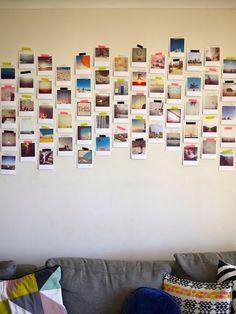 Un collage de fotos y una pared