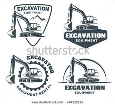stock-vector-set-of-excavator-logos-emblems-and-badges-isolated-on-white-background-constructing-equipment-497222128.jpg (450×414)