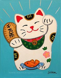 Neko Cat, Maneki Neko, Lucky Cat Tattoo, Polynesian Art, Joy Art, Snuggles, Happy Photos, Muse Art, Doodle Coloring