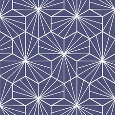 Hawthorne Threads - Radiate - Radiate in Glacier Blue Tile Design, Fabric Design, Pattern Design, Fabric Patterns, Sewing Patterns, Credence Adhesive, Flower Outline, House Tiles, Modern Fabric