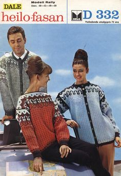 Dale Rally D332 Knit Fashion, Womens Fashion, Wooly Jumper, Norwegian Knitting, Vintage Knitting, Christmas Sweaters, Knitting Patterns, Cardigans, Retro