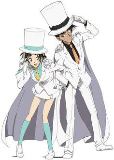 Heiji & Kazuha dressed as Kaito Kid