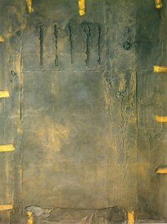 Antoni Tapies Large Matter with Lateral Papers, 1963 Modern Art, Contemporary Art, Art Informel, Tachisme, Abstract Art, Abstract Paintings, Acrylic Paintings, Abstract Expressionism, Art Graphique