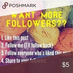 Want more followers??? 👉🏾Follow the steps to gain Posh followers! I follow EVERYONE that plays my follow game! Must complete all of the steps! I have had my posh account for over a month, and have over 1,300 followers! Thanks for playing! ⚡️Extra followers if you follow @Luxelles and @Juniper12Marie 🔥Don't hesitate to share your follow game with me via comment as well! I wanna play! None Pants Leggings