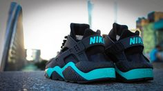 Custom Sneakers Nike Air Huarache - Blue Wave