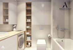 Przytulna łazienka w odcieniach bieli i szarości - zdjęcie od Aleksandra Wachowicz