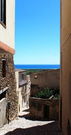 Old village of Posada,Sardinia,Italy