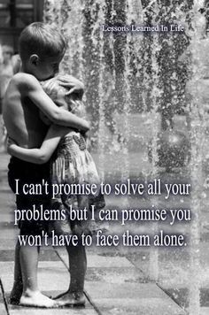 Marriage doesn't solve problems.  But it does give one a companion to face it all. :)