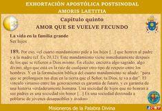 MISIONEROS DE LA PALABRA DIVINA: AMORIS LAETITIA