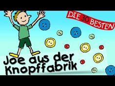Joe aus der Knopffabrik - Die besten Kinderturnlieder || Kinderlieder - YouTube