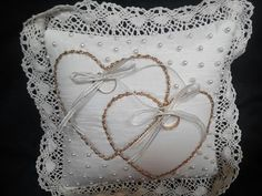 COJÍN PARA ANILLOS (Little Pillow Cushion for wedding bands) - YouTube