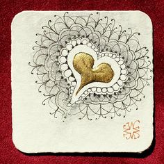 Zentangle: Gilded Wishes by Maria Thomas.