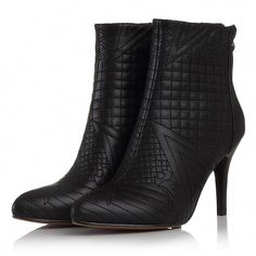 Square Toe Patent Leather Ankle Boots With Chunky Heels For Women Leather High Heels, High Heels Stilettos, High Heel Boots, Leather Ankle Boots, Heeled Boots, Bootie Boots, Combat Boots, Dress And Heels, Dress Shoes