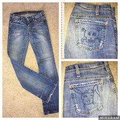 Citizens of Humanity Rabbit & Skull Distressed Jeans Size 26- NWOT #CitizensofHumanity #Flare
