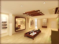 techo moderno con vigas de madera decorativas