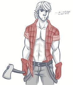 For my dear friend Alex who is sick and insisted that Kristoff dressed as a lumberjack was the only cure! – So Kristoff figured he'd let the girls pick out his costume. Disney Men, Disney Girls, Disney Magic, Punk Disney, Disney Couples, Disney And Dreamworks, Disney Pixar, Walt Disney, Anna Kristoff
