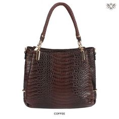 Handbag Republic Croco-Textured Shoulder Bag - Assorted Colors | Choxi.com