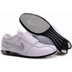 Shox Nike Shox Velcro White Silver  Nike Shox - White gives a person warm  feeling 476088674
