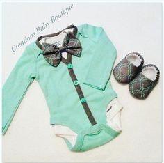Baby boy cardigan onesies , bow tie and shoes set , Easter outfit , baby boy outfit , baby boy clothes set by CreationsBabyB on Etsy https://www.etsy.com/listing/261441350/baby-boy-cardigan-onesies-bow-tie-and