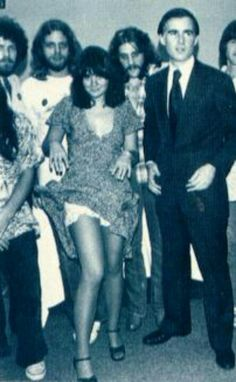 L-R back - Don Henley, Don Felder, Glenn Frey, Randy Meisner = Eagles with Linda Ronstadt & then (and now) Cali Gov. Jerry Brown