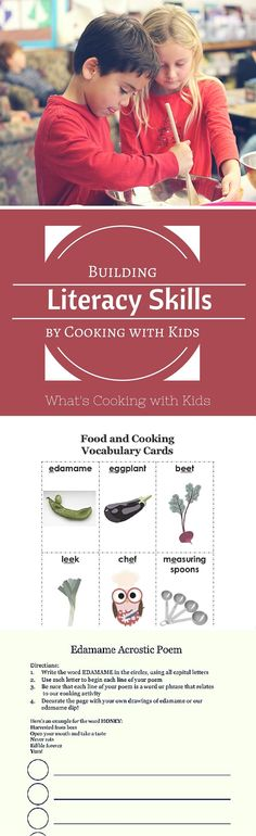 Cooking is a fun activity for kids in the classroom that also reinforces literacy skills. It reinforces language acquisition, phonemic awareness & more.