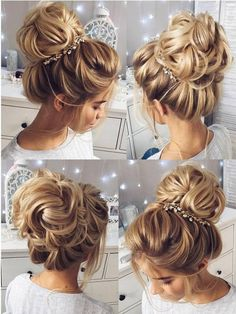Stunning Wedding Hairstyles for the 2018 Season – Latest Hairstyles bob hairstyles Wedding Hairstyles For Long Hair, Wedding Hair And Makeup, Hair Wedding, Bridesmaids Hairstyles, Bridal Hairstyles, Hairstyle Wedding, Bridal Updo, Prom Updo, Wedding Beach