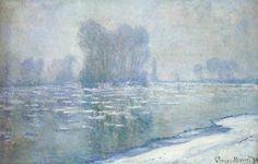 Claude Monet - Ice Floes, Morning Haze - 1894