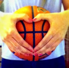This is a cute photo idea. I didn't know if I wanted to pin this to my All Things Basketball board or Photography board.