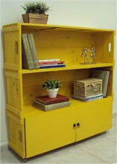 Home Office Furniture Can Make You Work Repurposed Furniture, Painted Furniture, Diy Furniture, Furniture Design, Diy Casa, Crate Shelves, Home Office Furniture, Decoration, Home And Living