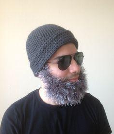 Handmade Crochet Santa Claus Beard hat beard beanie by SueStitch, $39.99 Crochet Beard Hat, Santa Claus Photos, Beard Beanie, Crochet Santa, Halloween Crochet, Bonnet, Hats For Men, Wool Yarn, Men Beard