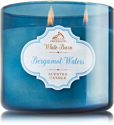 Bergamot Waters 3-Wick Candle - Bath & Body Works. A lush blend of blue bergamot waters, creamy sandalwood & a hint of sugared citrus.