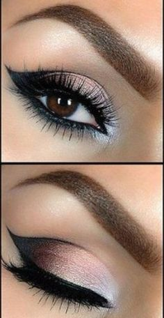 Smokey eyes are trendy makeup style now a days for parties.girls love to make smokey eyes. smokey eyes makeup apply in different colors according to dress Beautiful Eye Makeup, Cute Makeup, Pretty Makeup, Perfect Makeup, Awesome Makeup, Beautiful Eyes, Prom Makeup, Casual Makeup, Perfect Eyeliner
