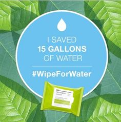 I just pledged to to clean my face without water for 3 days (thanks to Neutrogena Naturals Makeup Remover Towelettes) and you can too at http://www.wipeforwater.com/ #WipeForWater