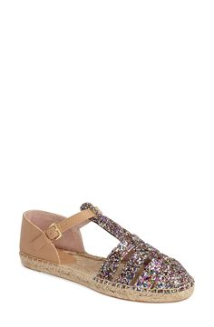 The glitter-encrusted straps straps on these Kate Spade espadrille sandals sure do offer a sparkly twist on a summer favorite.