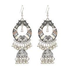 175af3c09 Bohemian Tassel Earrings Hallow Bell Drop Earrings Retro Sliver Earrings  For Women online - NewChic