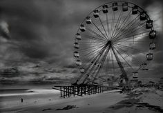 MICHAEL MASSAIA Funtown Pier Post Hurricane Sandy , 2012 From the series Afterlife Gold Toned Gelatin Silver 50.8 × 61 cm