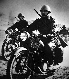 Slovak army bikers on the eastern front. Pin by Paolo Marzioli