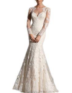 LovingDress Women's Wedding Dress Court Train with Applique 2016 Wedding Dress at Amazon Women's Clothing store: