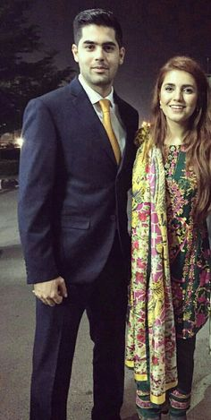 Momina Mustehsan with her elder brother