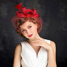 Women's+Feather+/+Tulle+Headpiece-Special+Occasion+Fascinators+1+Piece+–+USD+$+11.99