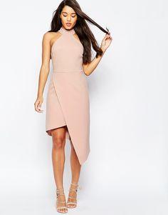 Image 1 ofASOS High Neck Asymmetric Dress