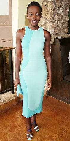 Look of the Day - June 5, 2014 - Lupita Nyong'o in Calvin Klein Collection from #InStyle