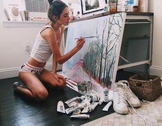 Pinterest: @ayvegece  I'll be able to paint in my own time after school!