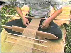 原始的機織り Textile technology of the Jōmon period. Fascinating warping technique.