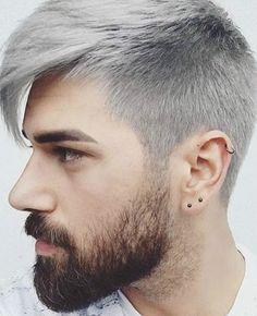 Resultado de imagen para hombres con el cabello de blanco