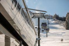 """Mit der neuen MK Maiskogelbahn steht jetzt die Verbindung zwischen dem Ortszentrum Kaprun mit dem Maiskogel, 2019 wird sie ausgebaut bis zum Gletscher. Der neue Superlift bietet auch interessante Optionen für Eventveranstalter, wie etwa persönliche Höhenmeterdiagramme und Speedcheck mit """"Blitzerfoto"""" oder der Skimovie-Strecke. Salzburg, Location, Utility Pole, Pictures, Kaprun, Alps, Places"""