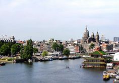 There are sveral bars in Amsterdam from which you have a nice panoramic view over the skyline of the city. If you want more info about the bars in Amsterdam go to: https://www.meetthecities.com/guide/amsterdam/amsterdam-nightlife-bars/