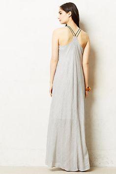 Pinstriped Maxi Dress - anthropologie.com